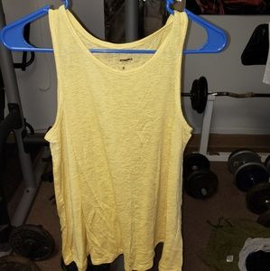 Ladies yellow Sonoma knit tank top